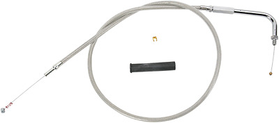 "Drag Specialties 48 1/2"" Braided Stainless Steel Idle Cable  0651-0246"