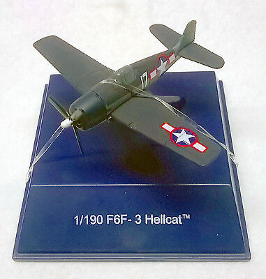 WW II Hellcat F6F-3 (US) Diecast Model Plane by NewRay w/Display Case