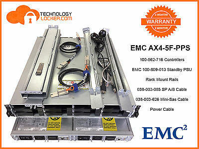 EMC AX4-5F-PPS Array + 2 x EMC Standby Power Supply + 2 x 100-562-716 + Cables