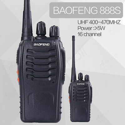 BaoFeng BF-888S Walkie Talkie UHF 400-470MHz Transceiver two way radio bf 888S