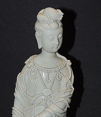 Antique Chinese Guanyin Blanc De Chine Porcelain Figure of a Female
