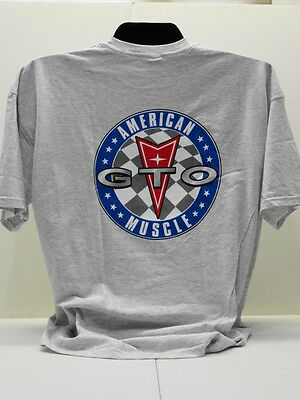 Gto Association Of America Grey Pontiac American Muscle Tee Shirt