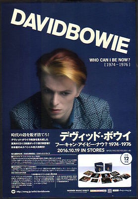 2016 David Bowie Who Can I Be Now? JAPAN box set ad / mini poster advert / d11r