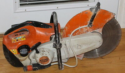 """Used Stihl TS420 Gas Powered 14"""" Concrete Cut Off Saw with Diamond Blade"""