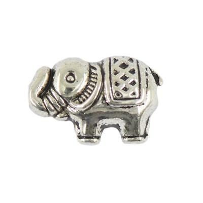50pcs Silver Tibet Elephant Spacer Loose Beads Charms DIY Jewelry Making