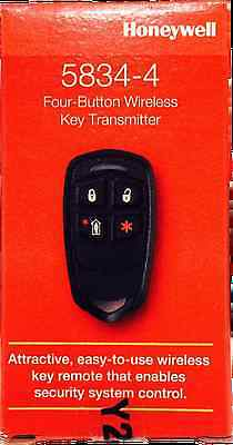 New  Honeywell 5834-4 Keyfob,  Vista 10P 15P 20P 21Ip Lynx
