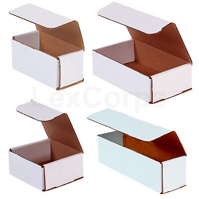 WHITE CORRUGATED MAILERS Fold Together Shipping Packing Boxes Mailers 100 200 50