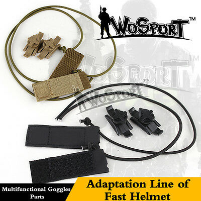 Tactical Airsoft Adapter Adaptation Line Connector for Goggles Fast Helmet Rail