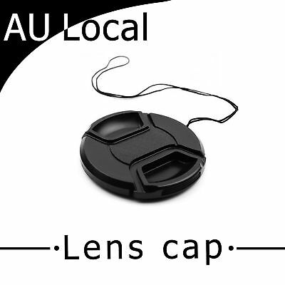 AU Local 49mm Center-Pinch Snap-on Front Lens Cap for Nikon Canon Sony Olympus