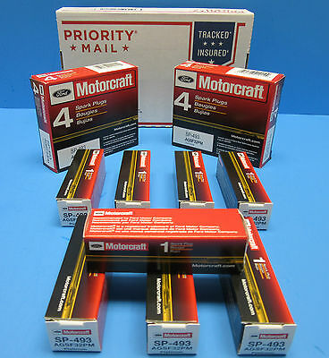 Set (8) Genuine FORD Spark Plugs Motorcraft SP493 OEM# AGSF32PM 4.6L 5.4L V8