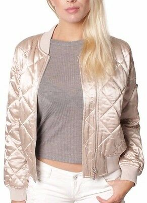 Ex Topshop WOMENS Ladies Girls BOMBER JACKETS QUILTED Vintage  4 6 8 10 12 14 16