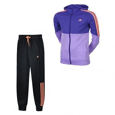 Adidas Essentials Youths S21661 Tracksuit Bottoms Jacket Purple/Black (#10066)