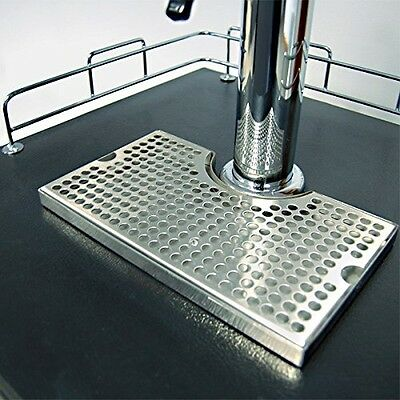 Surface Mount Kegerator Beer Drip Tray Stainless Steel Tower Cut Out No Drain