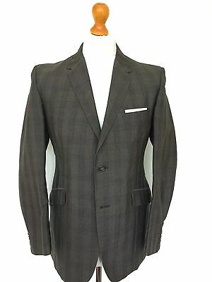 Vintage 1960's Mohair Checked Tweed Suit Size 38