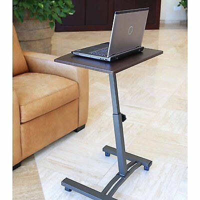 Laptop Table Rolling Portable Stand Desk Cart Notebook Couch Mobile Adjustable