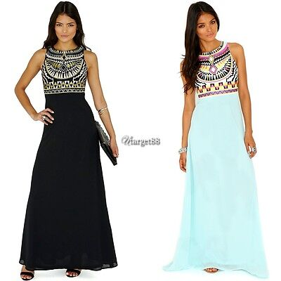 New Women Summer Long Maxi BOHO Evening Party Dress Beach Dresses Sundress UTAA