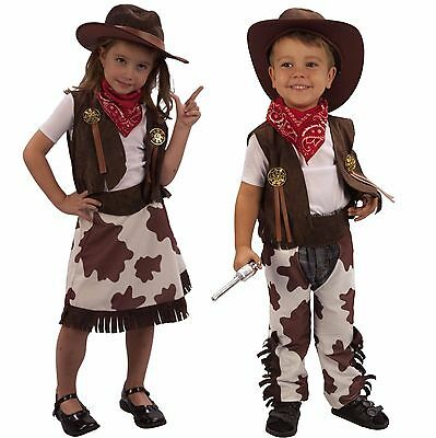 Toddler Girl Cowgirl Boy Cowboy Fancy Dress Costume Age 2 3 under 4 years T2 T3