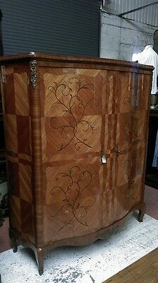 A Superb Marquetry And Kingswood Parisian Armoire/hanging Cupboard