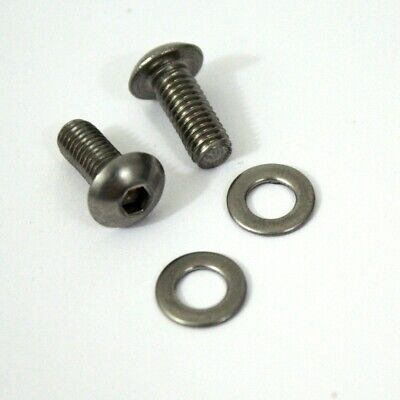 NEW bottle cage button screws stainless steel ( Set of 2 )