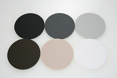 Matte Acrylic Circles Discs In Beige, Grey, Brown, Black, White, Natural Range