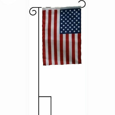 "12x18 12""x18"" USA American United States of America Sleeved w/ Garden Stand Flag"