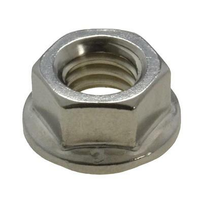 """Qty 5 Hex Serrated Flange Nut 5/16"""" UNC Zinc Plated Imperial Grade 5 BSW ZP"""