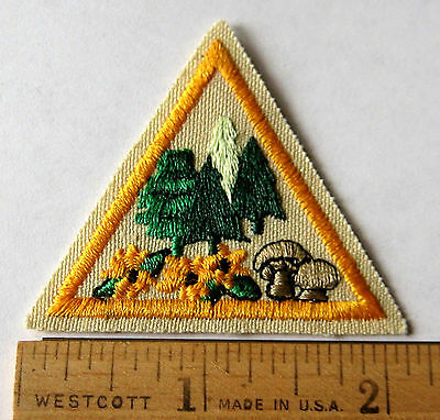Girl Scout Brownie 1993-1999 PLANTS TRY-IT Trees Flowers Mushrooms Patch Badge