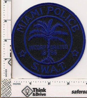Miami  Police. S.W.A.T. Subdued Blue.Florida.