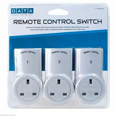 3x Remote Control Sockets Power Electric Socket - 3 Pack