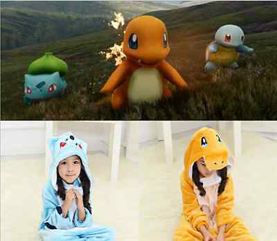 !~pokemon Children Kids Pajamas Kigurumi Unisex Cosplay Animal Costume bulbasaur
