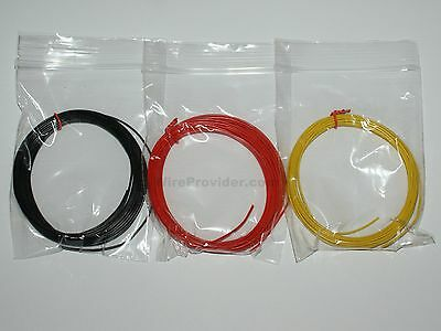 15m Equipment Wire Pack 1/0.6mm - 22-23 AWG*  -  3 Colours  Single Solid Core
