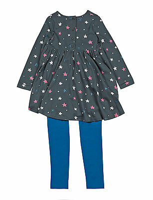 Girls NEW ex Marks & Spencer M&S Star Dress & Leggings Set Age 4-5 y Jersey