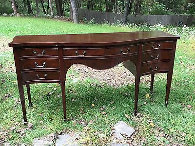 Antique Flint and Horner Sheridan Style Mahogany Buffet Sideboard Server