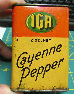 IGA Spice Tin IGA Cayenne Pepper - Independent Grocers Alliance has some in it