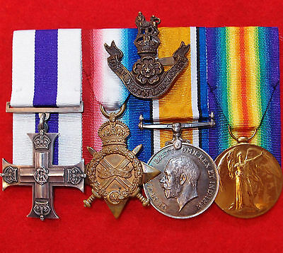 Vintage & Rare Ww1 British Army Military Cross Medal Group P.o.w. Ayeshire Yeo