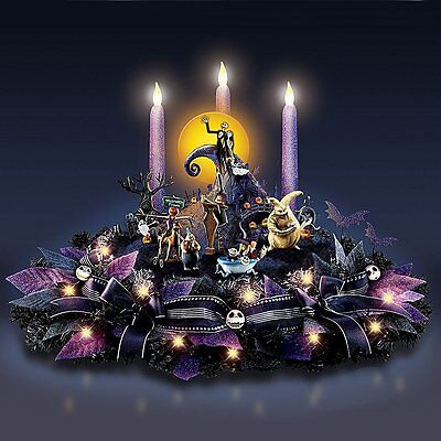 Bradford Disney The Nightmare Before Christmas Light Up Musical Centerpiece NEW