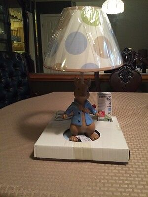 Lambs & Ivy Peter Rabbit Lamp Base with Shade Nickelodeon Nursery Bedroom