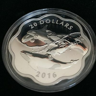 EXCLUSIVE Masters Club Coin Series: COIN #2 – 99.99% Pure Silver Orca (2016)