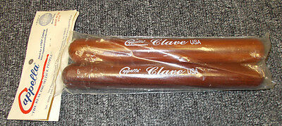 "Pair Cappella Hand Percussion Proffesional Large Rosewood Claves  9.5"" X 1.25"""