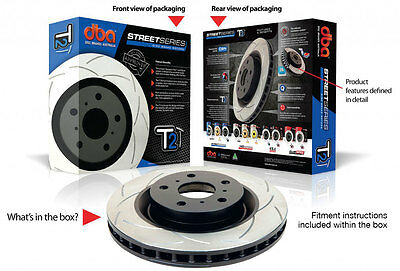 DBA T2 Slotted Rotors 504S X 2 Front Set To Suit Ford BA BF FG