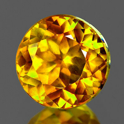 FLAWLESS~5.02CT ROUND 9.50 mm GOLDEN YELLOW SPHALERITE NATURAL LOOSE GEMSTONES