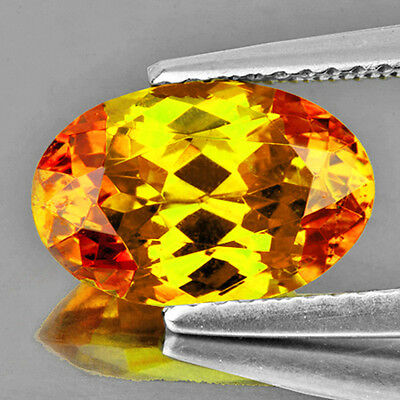 FLAWLESS~7.15CT OVAL 14x9.5mm BI COLOR CANARY SPHALERITE NATURAL LOOSE GEMSTONES