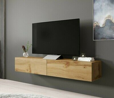 tv lowboard bruno 180 sideboard h ngeschran h ngend wei schwarz h ngend neu eur 115 00. Black Bedroom Furniture Sets. Home Design Ideas