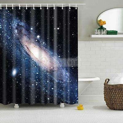 Cortina de ducha nebulosa universo Baño Sheer impermeable panel decorativo