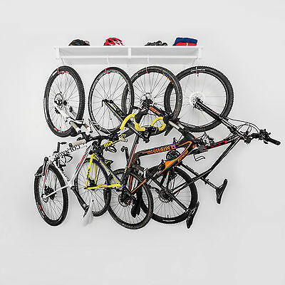 Bicycle Storage up to 5 Bikes - Bike Cycling Storage Wall Mount Hook Rack Stand
