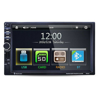 "7"" Double 2DIN Car MP5 Player Bluetooth Touch Screen Stereo Radio HD 1080P"