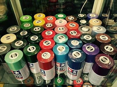 (x2 cans)TAMIYA Spray Paint Lacquer 100ml TS (many colors,please Leave Message)