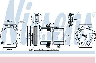 FORD MONDEO Air Con Compressor 93 to 07 AC Conditioning 1018497 1035431 1406034