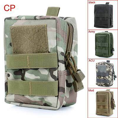 Outdoor Military Tactical Zipper Waist Bag Back Purse Sport Pouch Pack Camping