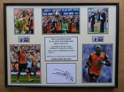 2015-16 Hull City Play-Off Winners Display Signed by Mohamed Diame (9155)